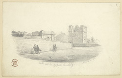 Castle and County Gaol, Cambridge, 1824